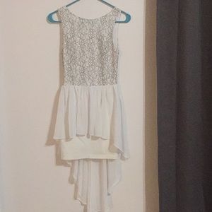 Do and Be white stretch dress